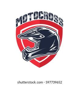 Motocross Helmet Vector Illustration