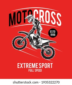 motocross illustration for t shirt and others
