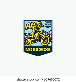 Motocross logo emblem vector illustration