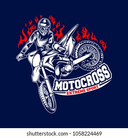 Motocross logo template vector illustration