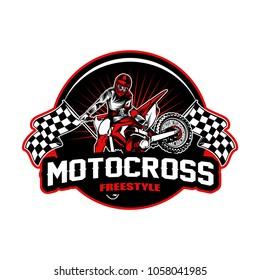 Motocross sport vector illustration