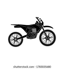 Motocross, trail bike, off road motorcycle icon vector design. Vector illustration