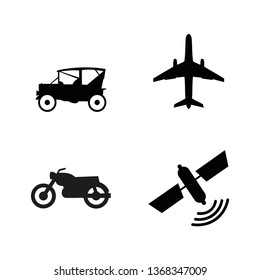 Motocycle, Ford model T, Airplane, Satellite