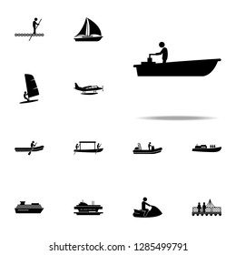 motor, boat icon. water transportation icons universal set for web and mobile