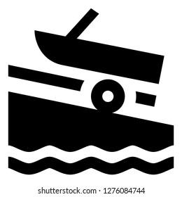 Motor Boat Marina Icon