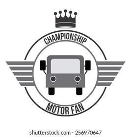 Motor Fan, Vector illustration