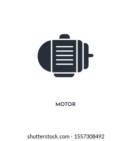 motor icon. simple element illustration. isolated trendy filled motor icon on white background. can be used for web, mobile, ui.