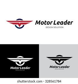 Motor Leader, automotive logo, vector logo template