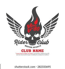 motor logo graphic design. logo, Sticker, label, arm