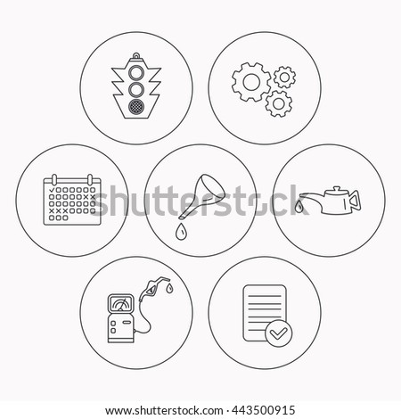 Motor Oil Change Traffic Lights Gas Stock Vector Royalty Free