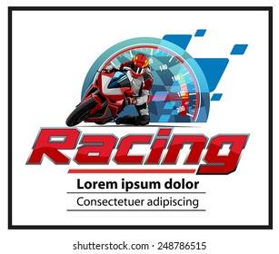 motor racing logo event