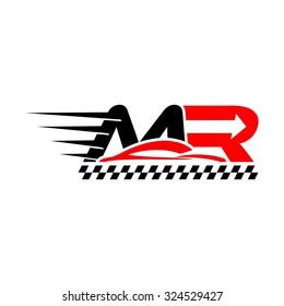Motor Racing, M R Initial Logo