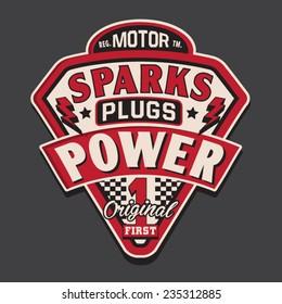 Motor rider typography, shirt graphics, vectors