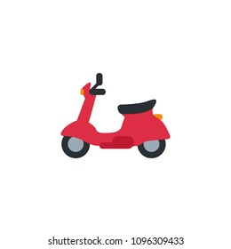 Motor Scooter, classic moped vector illustration flat icon symbol cartoon style emoticon