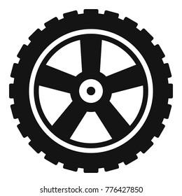 Motor tyre wheel motor logo icon. Simple illustration of motor tyre wheel motor logo vector icon for web