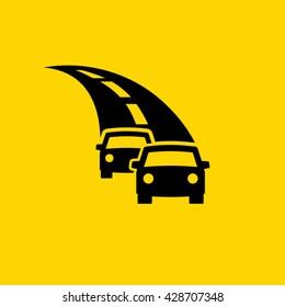 Motor vehicles on highway