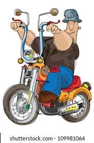 motorbike - cartoon