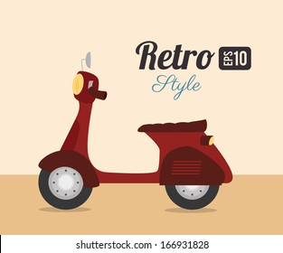 motorbike design over pink background. vector illustration