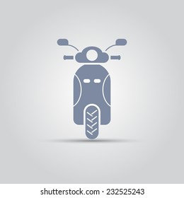 motorbike front view isolated vector icon