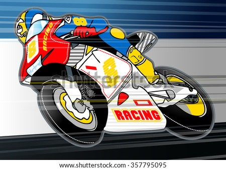 Motorbike sports racing embroidery applique stock vector royalty