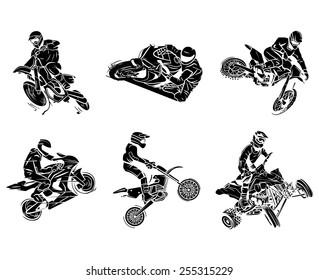 Motorbike tattoo Collection