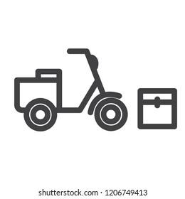Motorbike vector icon