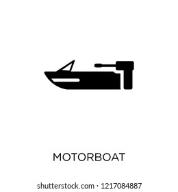 motorboat icon. motorboat symbol design from Nautical collection. Simple element vector illustration on white background.