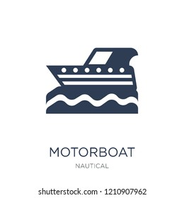 motorboat icon. Trendy flat vector motorboat icon on white background from Nautical collection, vector illustration can be use for web and mobile, eps10