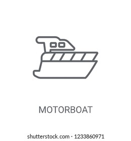 motorboat icon. Trendy motorboat logo concept on white background from Nautical collection. Suitable for use on web apps, mobile apps and print media.
