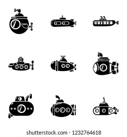 Motorboat icons set. Simple set of 9 motorboat vector icons for web isolated on white background