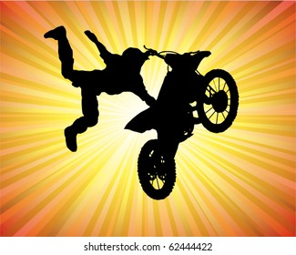 motorcross poster - rider on the motorcycle