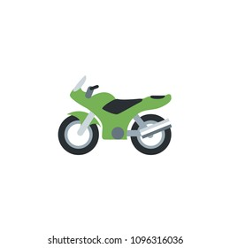 Motorcycle, bike, race scooter vector illustration flat icon symbol cartoon style