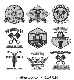 Motorcycle club badges