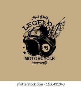 Motorcycle Club Helmet Illustration