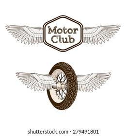 Motorcycle club logo emblem