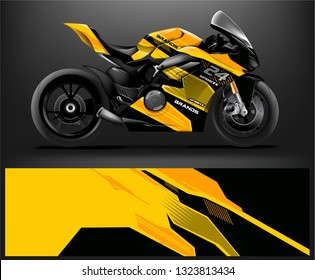 motorcycle decal design vector kit. abstract background graphics for motorcycle Racing decal and vinyl wrap - Vector