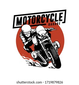 motorcycle design with hand drawing style