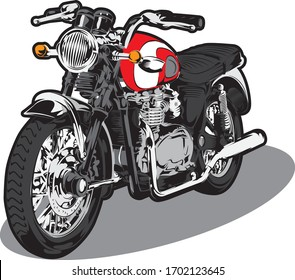Motorcycle drawing and illustration color mode
