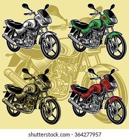 Motorcycle drawing set