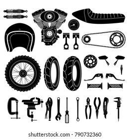 motorcycle element on white background