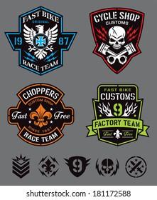 Motorcycle emblem set