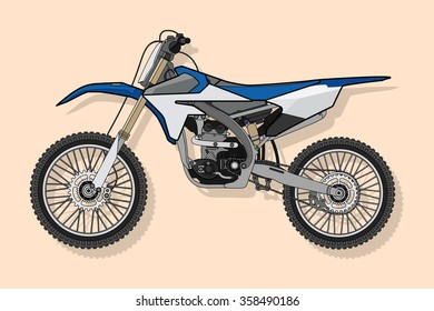 motorcycle Enduro vector