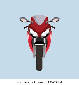 Motorcycle front view vector illustration design flat