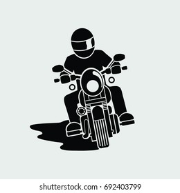 motorcycle front view. vector. illustration