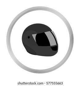 Motorcycle helmet icon monochrome. Single sport icon from the big fitness, healthy, workout monochrome.