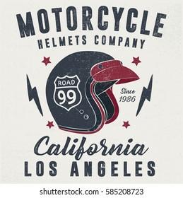 Motorcycle Helmet, Vector graphic for t shirt