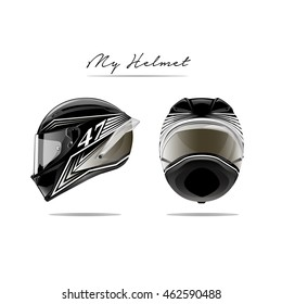 Motorcycle helmet vector picture isolated.