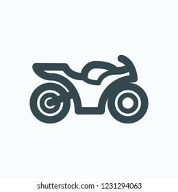 Motorcycle icon, sport motorbike, sportbike vector icon