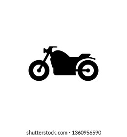 Motorcycle icon, Motorcycle symbol, vector.