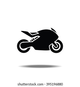 Motorcycle Icon Vector Illustration
